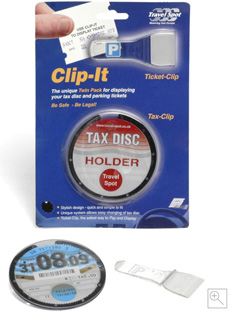 Clip-It: Parking Ticket Clip & Tax Disc Holder