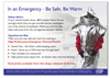 Emergency Thermal Poncho Information Leaflet