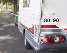 Caravan/Trailer French Speed Limit Stickers